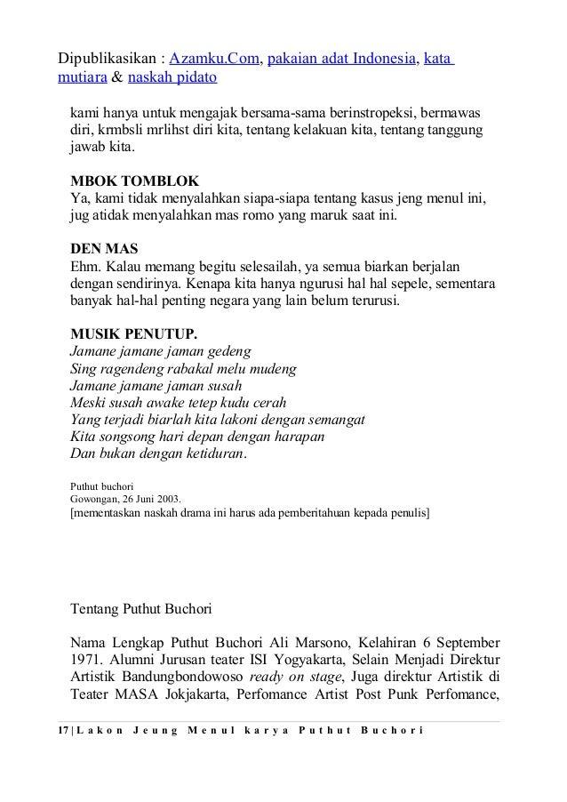 Contoh naskah drama komedi contoh teks naskah drama komedi