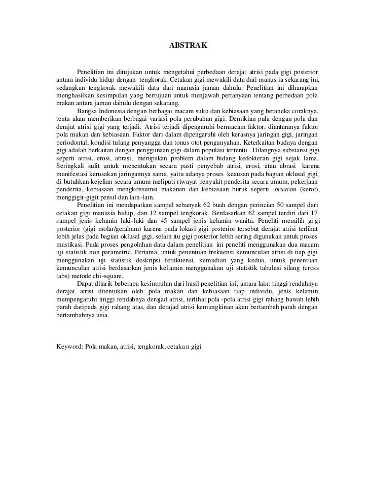 Contoh Abstrak Laporan Penelitian Natal Lok