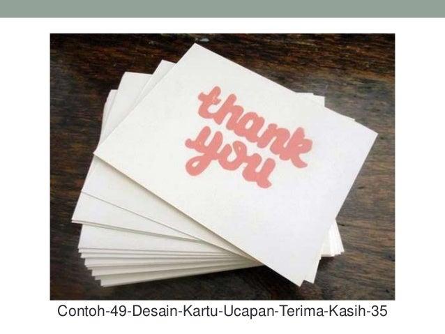 Contoh 49 desain kartu ucapan terima kasih