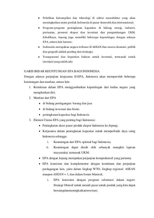 contoh analisis perjanjian internasional