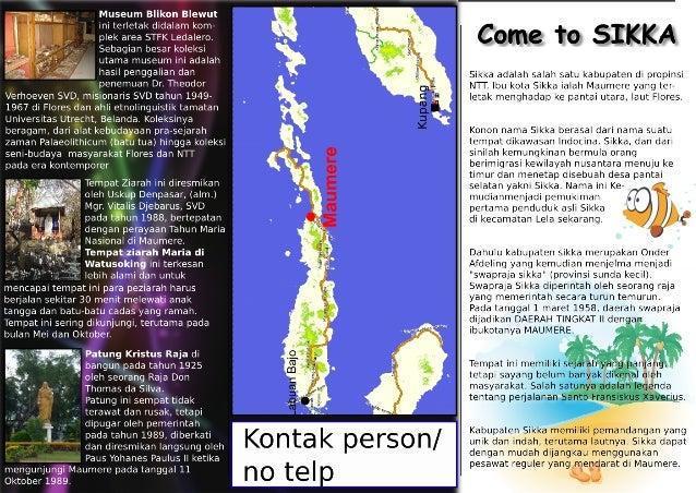 Contoh Brosur Hal 1 Wisata Rohani Sikka Flores Ntt