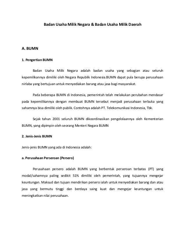 Contoh Bumn Bank Indonesia
