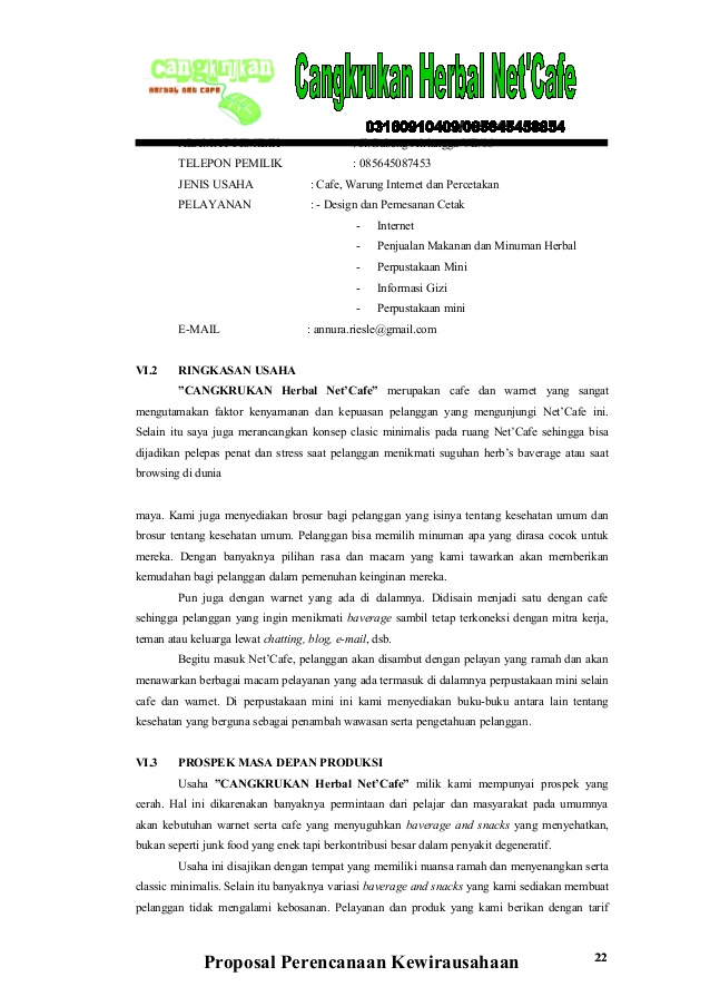 Contoh Proposal Wirausaha Makanan Jeans Wall