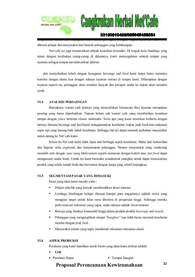 Contoh Proposal Bisnis Plan Makanan Ringan yang Simple