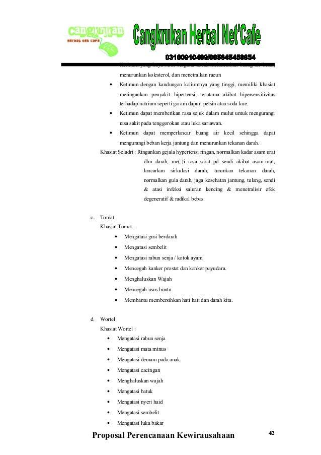 Proposal business plan minuman