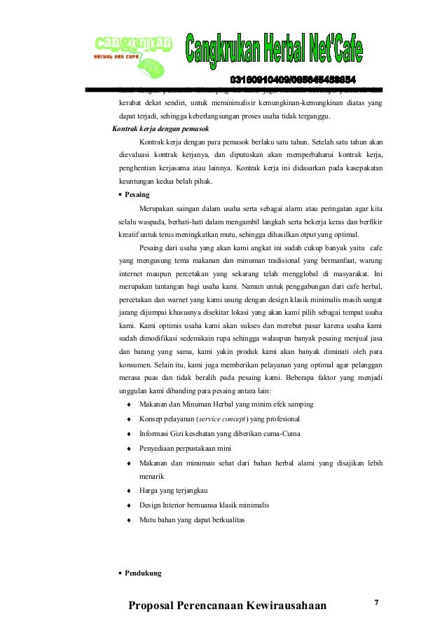 Example Of A Business Plan Template