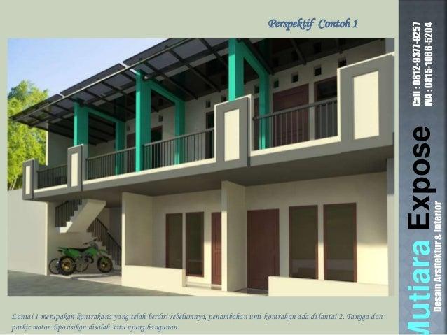 & Contoh Desain Rumah Kontrakan Petak