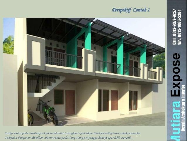 DesainArsitektur\u0026Interior; 4. & Contoh Desain Rumah Kontrakan Petak