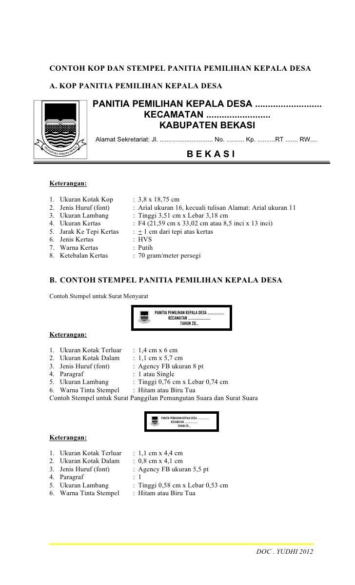 Contoh Dokumen Kelengkapan Pilkades