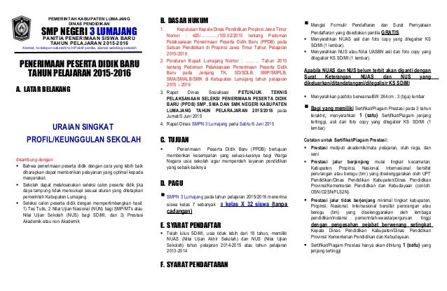 Contoh Draft Brosur Ppdb Smpn Kab Lumajang 2015 2016