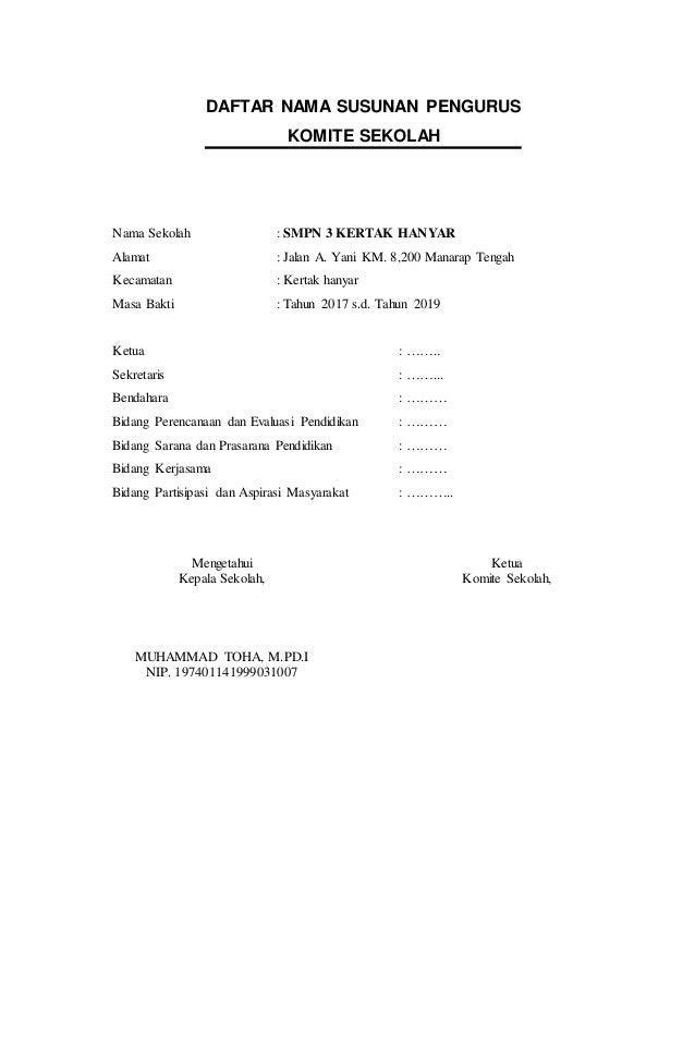 Contoh Laporan Keuangan Komite Sekolah Sma Kumpulan Contoh Laporan