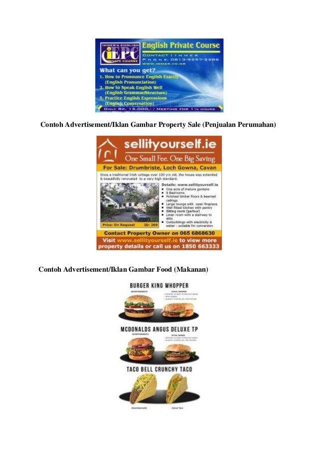 Contoh iklan dalan bahasa inggris 2
