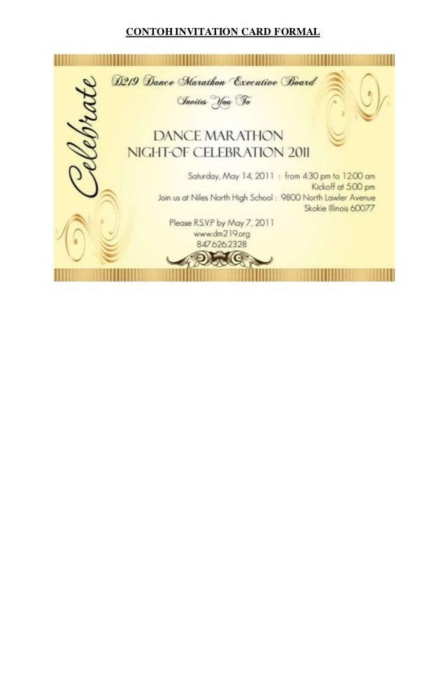Contoh invitation card informal stopboris Choice Image
