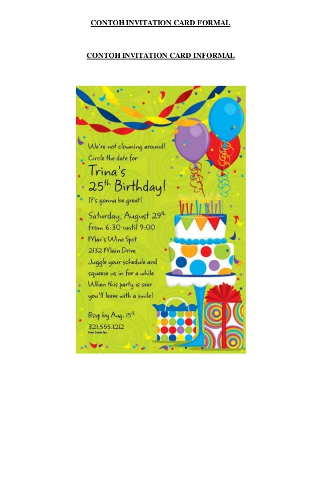 Contoh invitation letter about birthday party cogimbo how to write invitation card for birthday party pandora stopboris Gallery