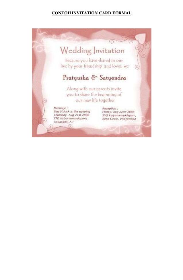 Contoh invitation card wedding