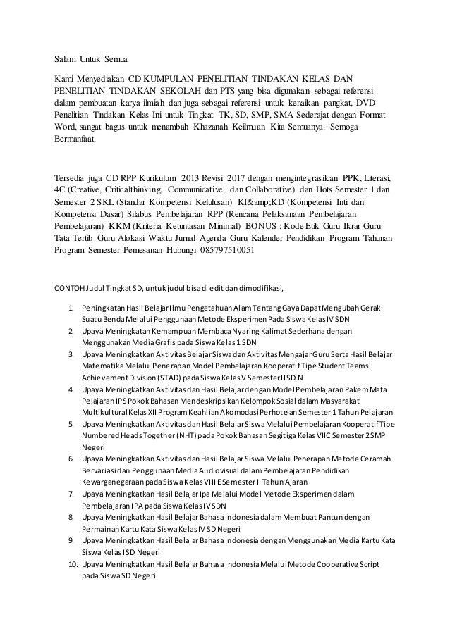 Contoh Judul Ptk Lengkap Ipa Sdn Kelas 4 Sd Tentang Gaya Penggunaan