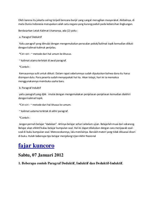 Contoh Paragraf Induktif - Police 11166
