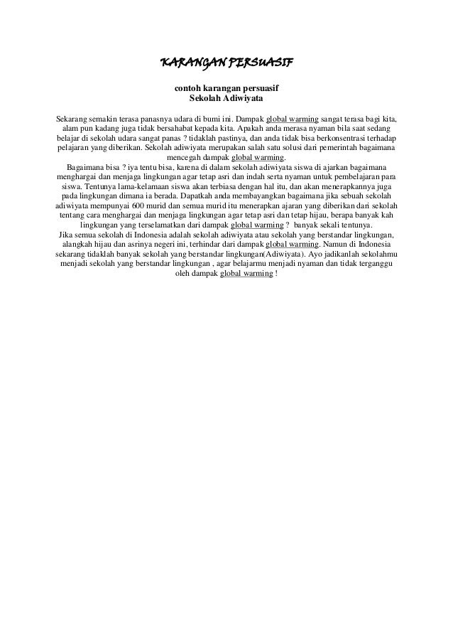 B Indonesia Contoh Karangan