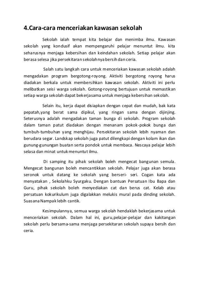 Contoh Karangan Gotong Royong - Contoh II