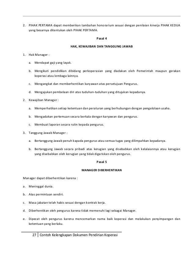 Contoh Surat Pengunduran Diri Anggota Koperasi