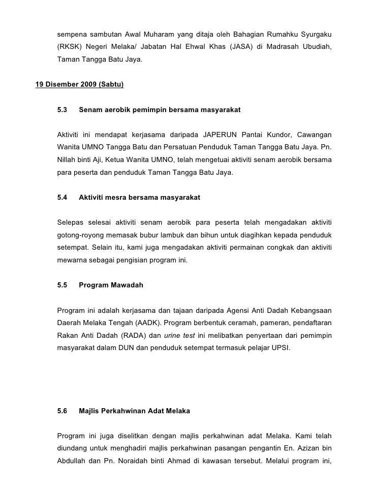 Contoh Laporan Program Fontoh