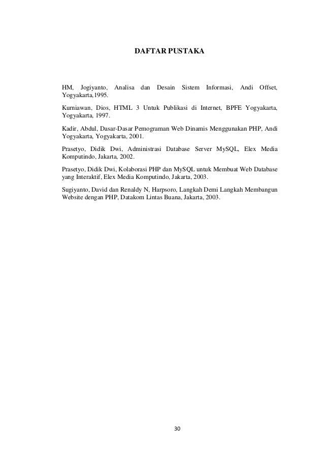 Contoh Daftar Pustaka Laporan Pkl Jurusan Administrasi Perkantoran Materi Pelajaran 2