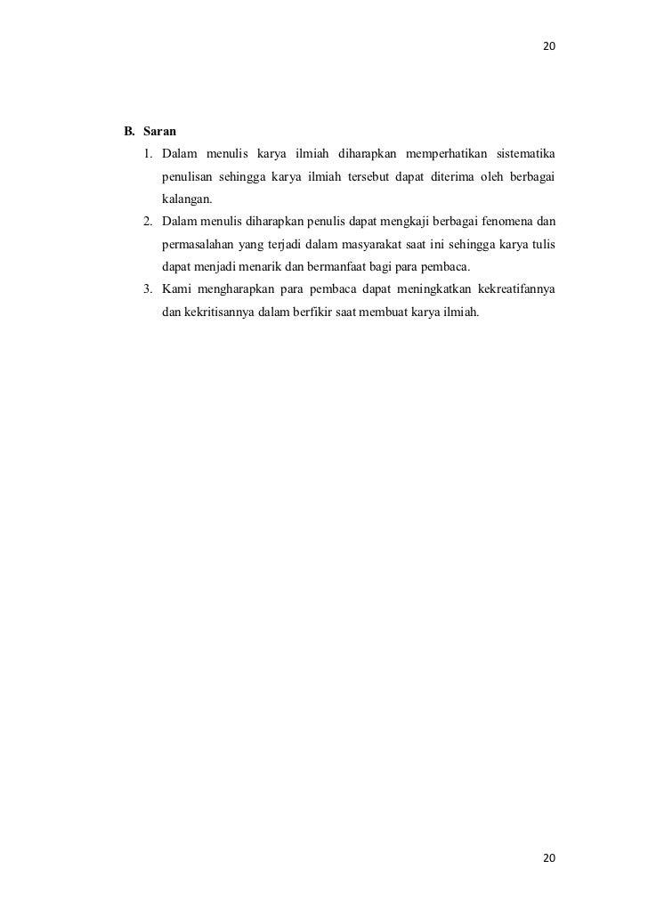Contoh Karya Ilmiah Bab 1
