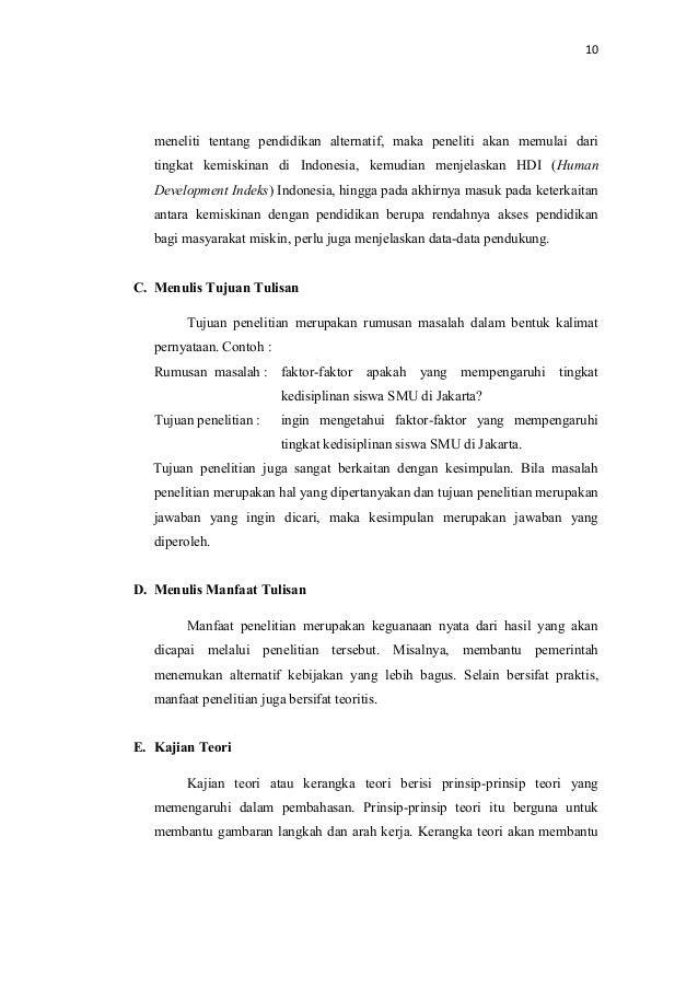 Contoh Makalah Skripsi Bahasa Indonesia