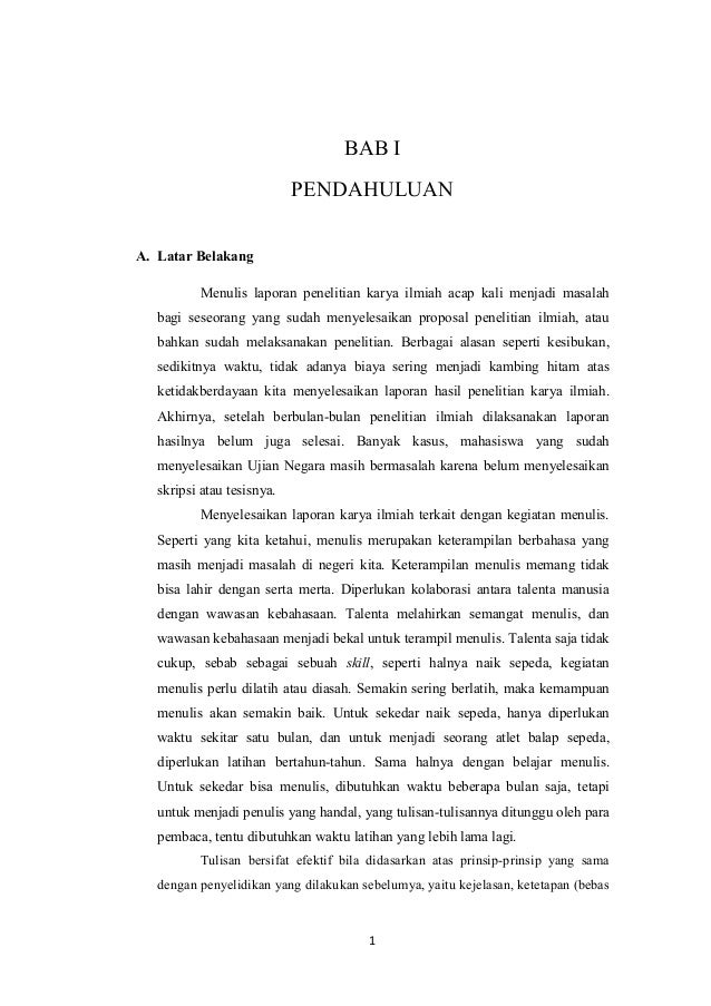 Contoh Proposal Skripsi Bahasa Indonesia Tentang Membaca