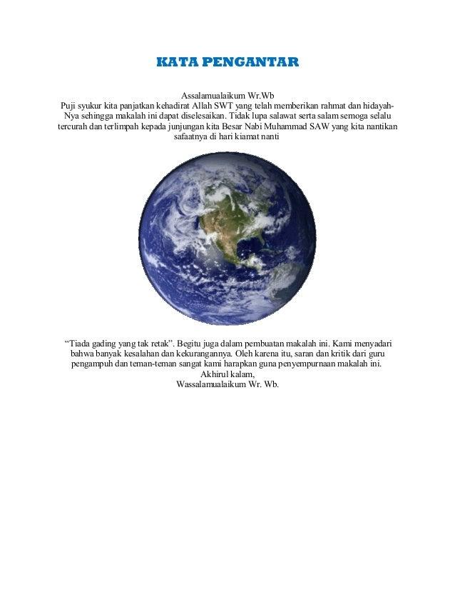 Makalah Geografi Kelas 10 Semester 1