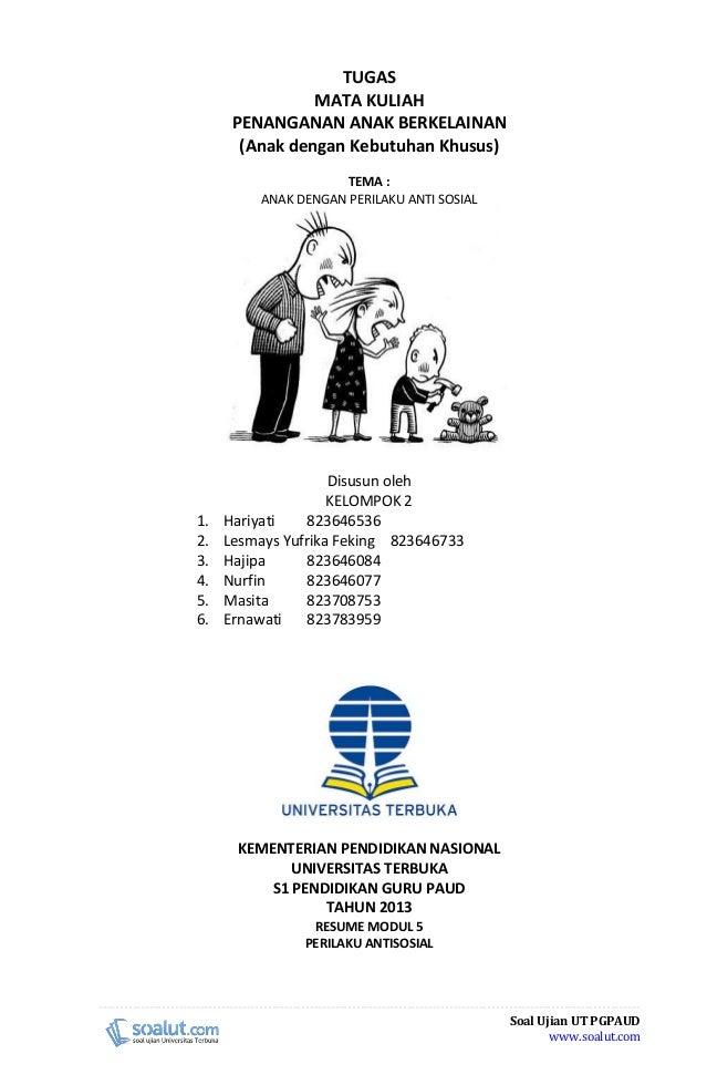 Contoh Makalah Ut Pgpaud Paud4208 Penanganan Anak Berkelainan