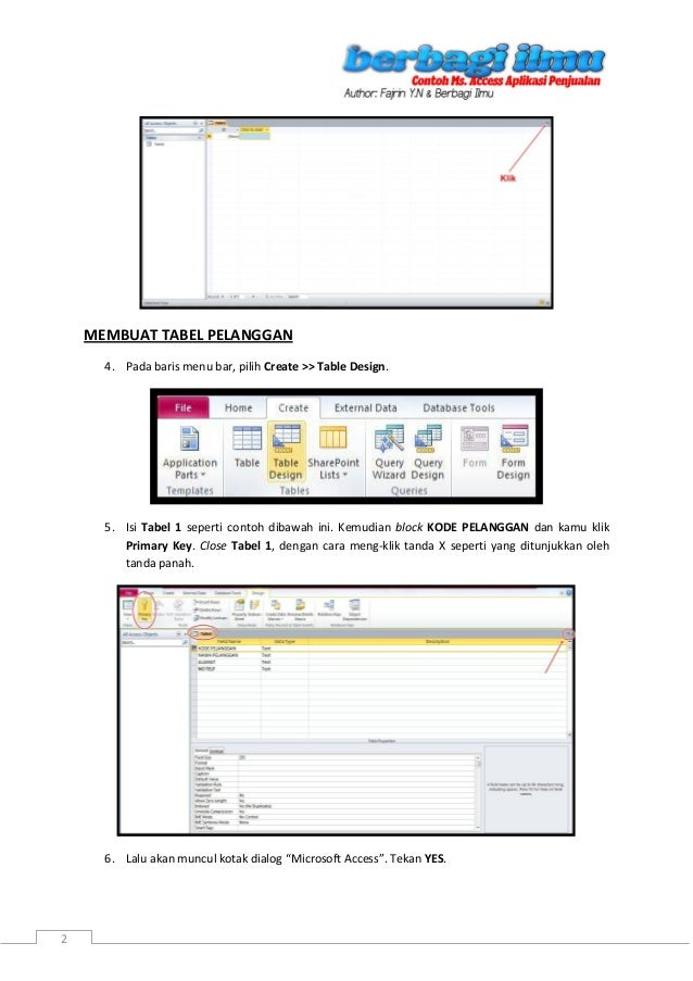 Contoh Database Dengan Microsoft Access 2007 - Cable Tos