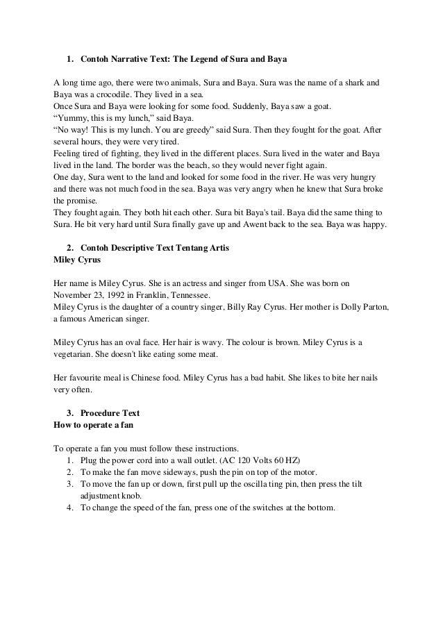 Contoh essay narrative text