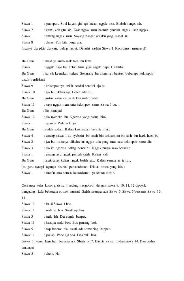 Contoh Naskah Drama Musikal Sederhana