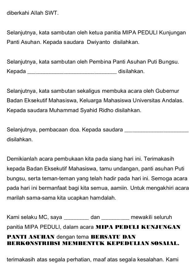 Contoh Kata Sambutan Ketua Panitia Maulid Nabi Bahasa ...