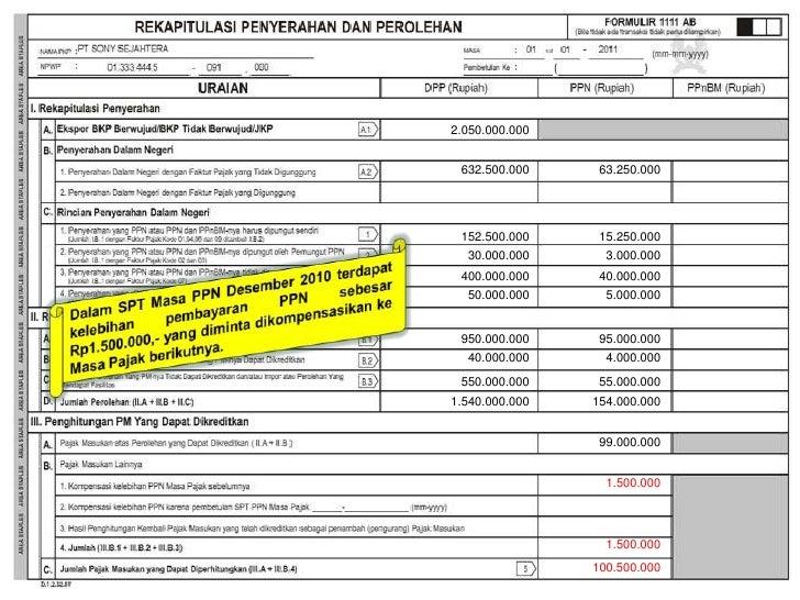Spt masa 1111 formulir pdf ppn