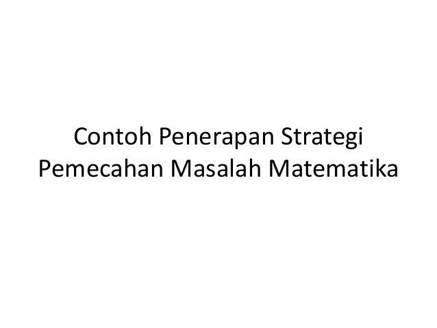 Contoh Penerapan Strategi
