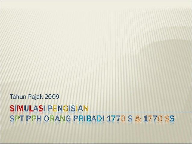 Tahun Pajak 2009