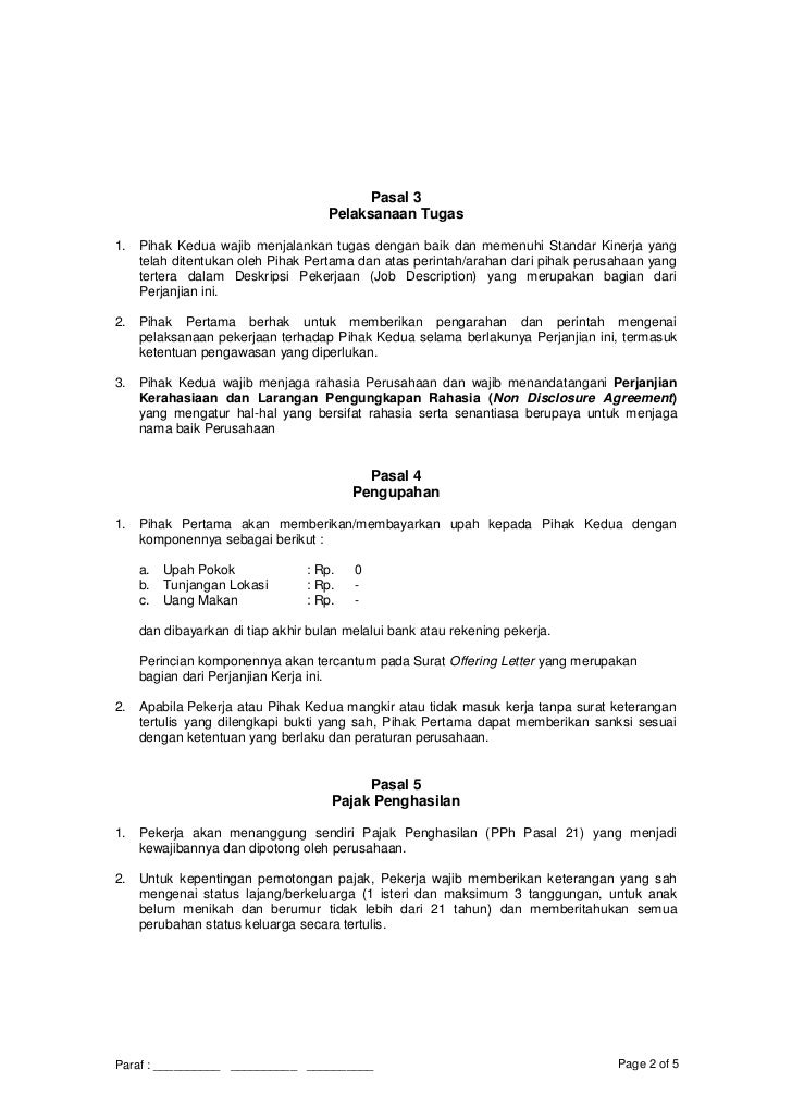 Contoh Job Description It Cara Ku Mu
