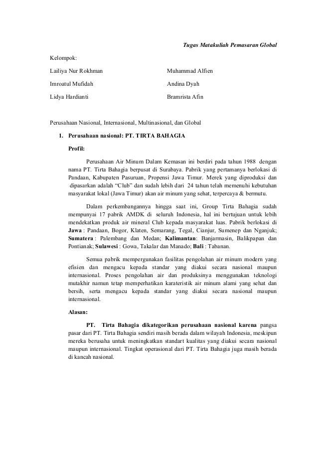 Tugas Matakuliah Pemasaran Global Kelompok: Lailiya Nur Rokhman  Muhammad Alfien  Imroatul Mufidah  Andina Dyah  Lidya Har...