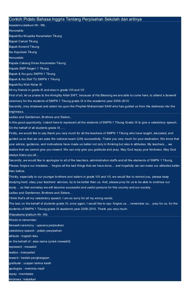 contoh pidato bahasa inggris tentang perpisahan sekolah dan artinya rh slideshare net arti arti kata dalam bahasa inggris arti arti kata dalam bahasa inggris