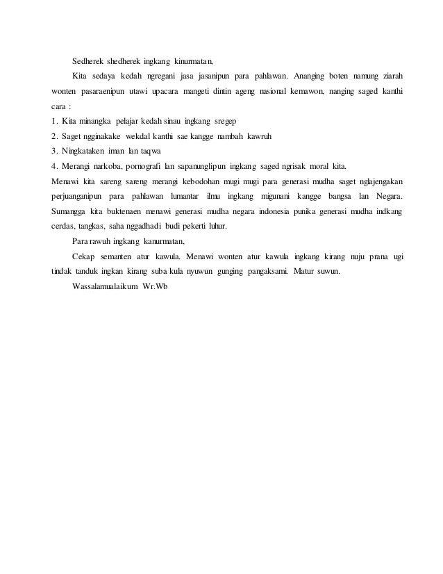 Pidato Bahasa Jawa Tentang Hari Guru Seputaran Guru