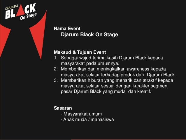 Contoh Proposal Sponsorship Event Konser Musik