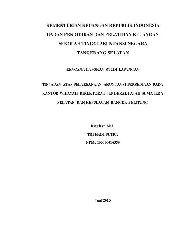 Contoh Proposal Karya Tulis Tugas Akhir Tri Hadi Putra