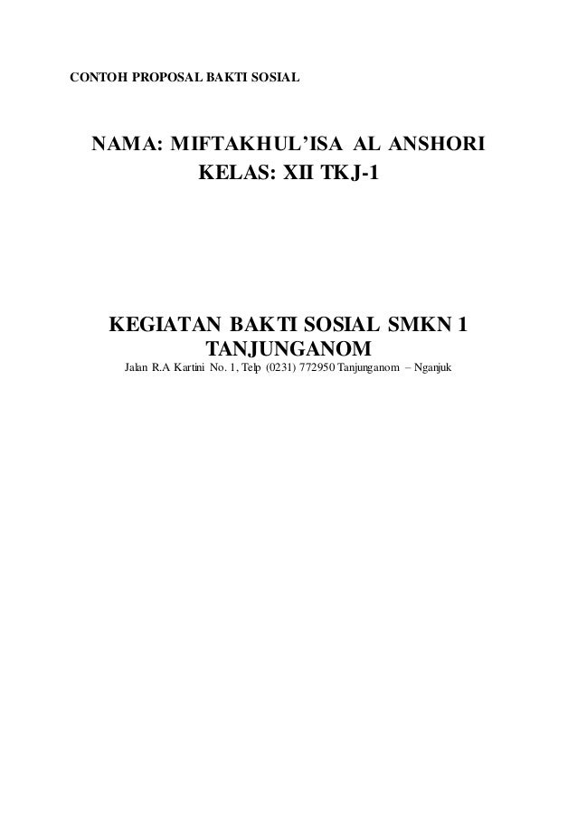 Contoh Proposal Bakti Sosia Ll