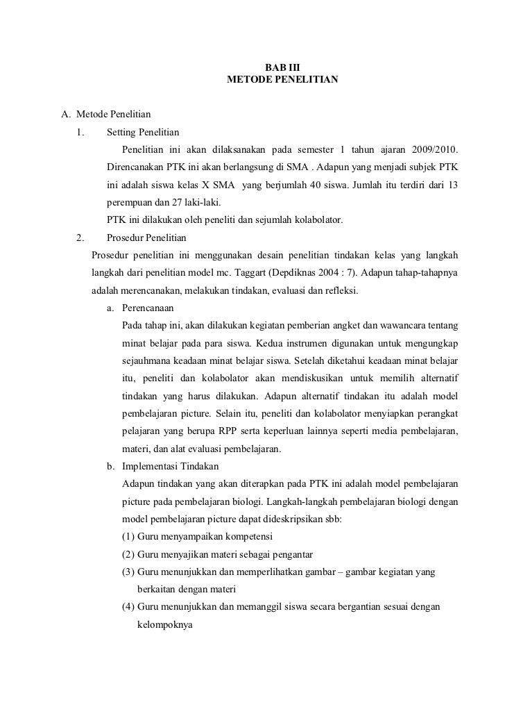 Contoh Proposal Penelitian Biologi Kelas X Arasmi