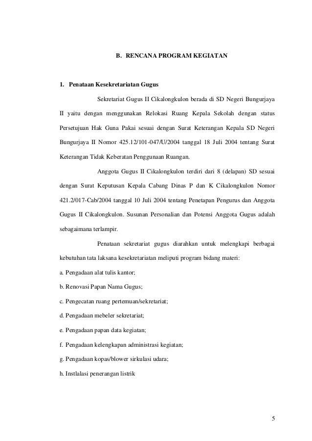 Contoh Proposal Dana Kegiatan