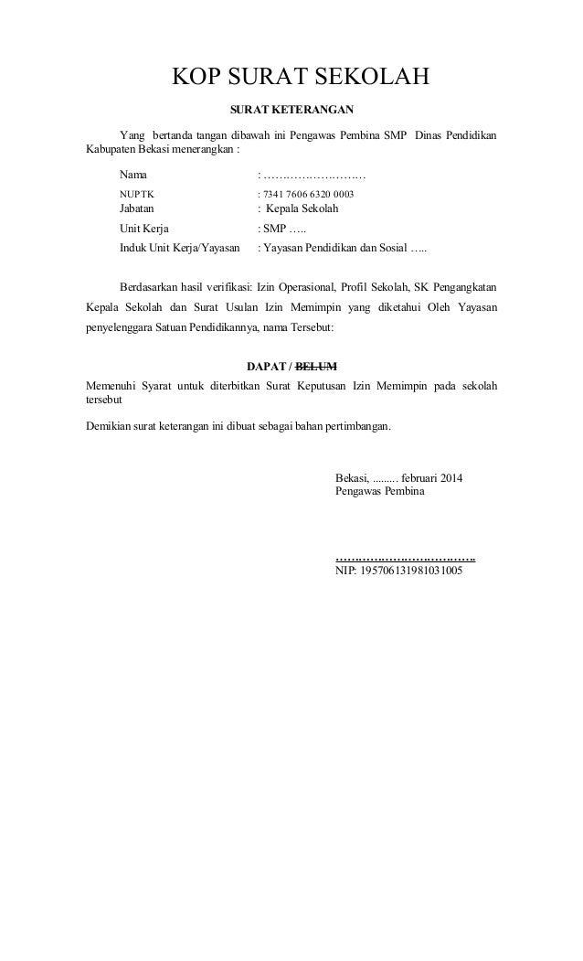 Contoh Proposal Ijin Memimpin Swasta