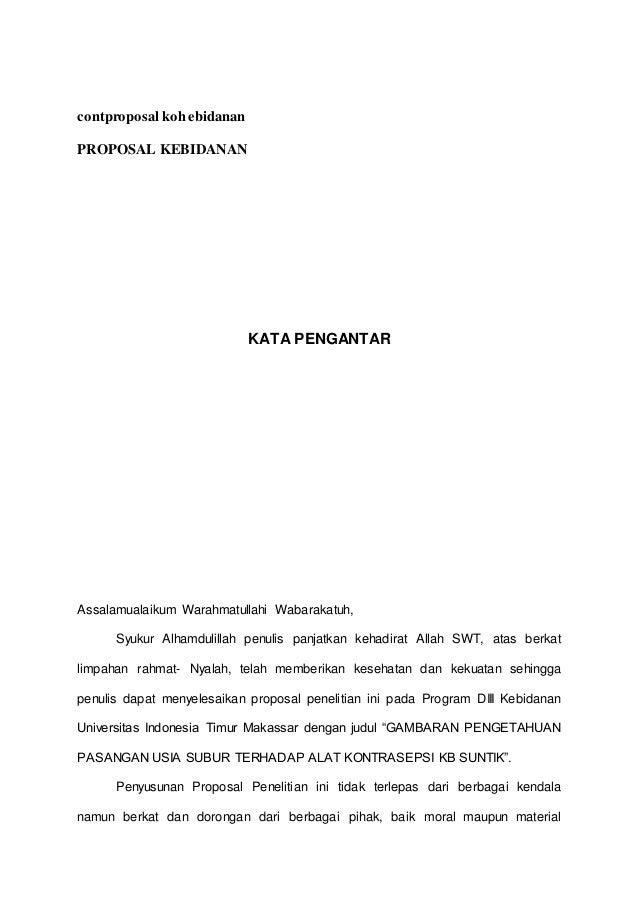 Contoh Proposal Kebidanan Pak Hasariy Akbid Paramata Raha