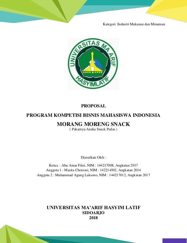 Contoh Proposal Kompetisi Bisnis Mahasiswa Indonesia Kbmi Keripik P